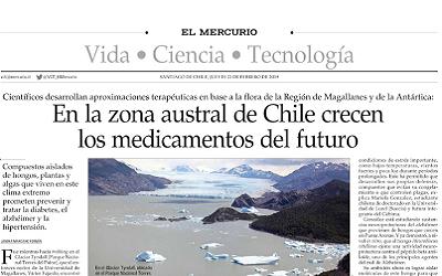 El Mercurio destaca investigaciones que hará CEBIMA en la Antártica