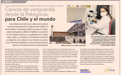 CEBIMA en Diario Financiero: Ciencia de vanguardia desde la Patagonia, para Chile y el mundo