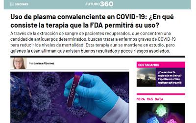 Uso de plasma convaleciente para tratar Covid-19 «se trata de una terapia segura»
