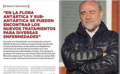 Entrevista a Nibaldo Inestrosa en revista Cuenta Conmigo de Gasco Magallanes
