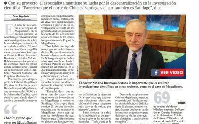 """Dr. Nibaldo Inestrosa: """"Una enfermedad en Magallanes no es la misma que en Santiago"""""""